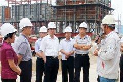 区委常委、副区长陈卫奎一行现场督查集团公司重点工程项目